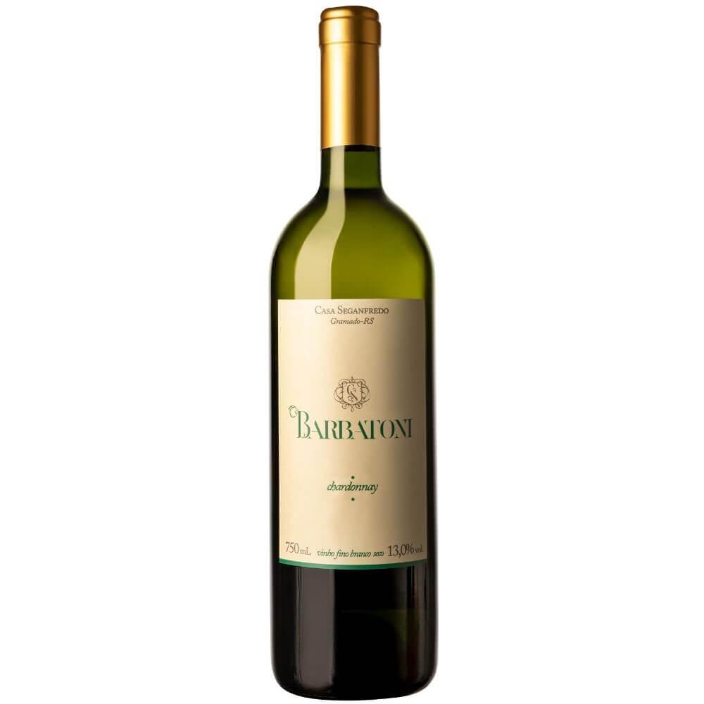Vinho Branco seco fino Chardonnay 750ml Barbatoni